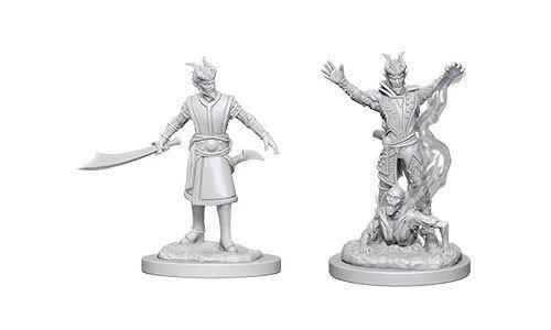 D&D Minis: Tiefling Male Warlock