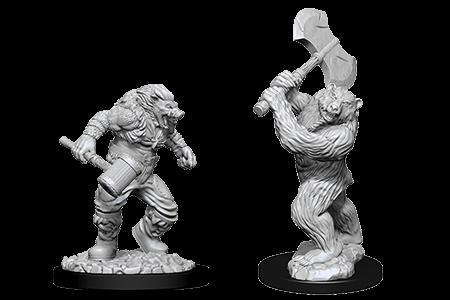 D&D Minis: Wereboar and Werebear
