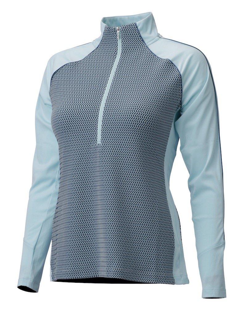 DESCENTE WOMEN'S ICLYN ZIP NECK PETROL/HORIZON BLUE