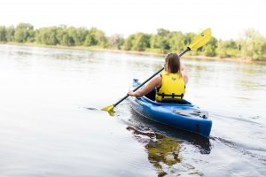 Kayak trip on the Mississippi River