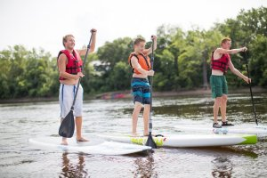 Stand Up Paddle Boarding SUP Trip on the Mississippi River