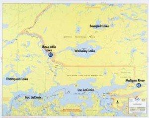 Map F23 Lac La Croix North