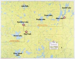 Map F5 Perent Kawishiwi Sawbill Lakes