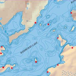 Map 10A Basswood Depth Contour