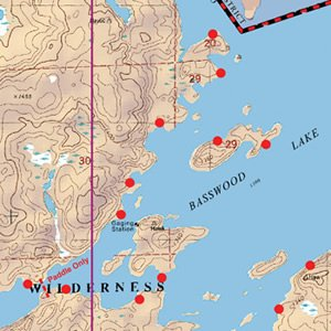 Map 10 Basswood Crooked Lake