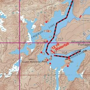Map 11 Jackfish, Beartrap, Crooked