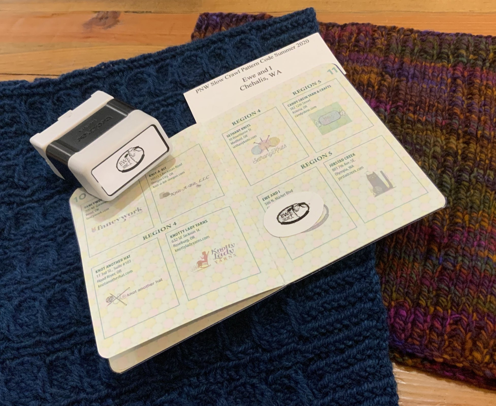 Ewe and I PNW Slow Yarn Crawl Proof of Participation