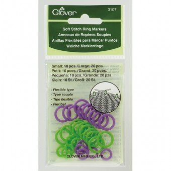 Clover Stitch Markers - Soft Ring 3107