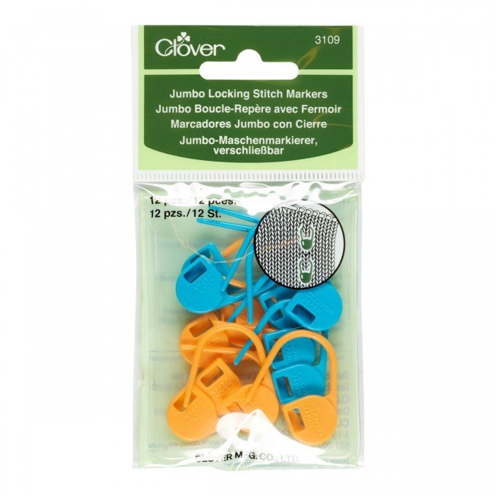 Stitch Markers - Jumbo Locking (3109)