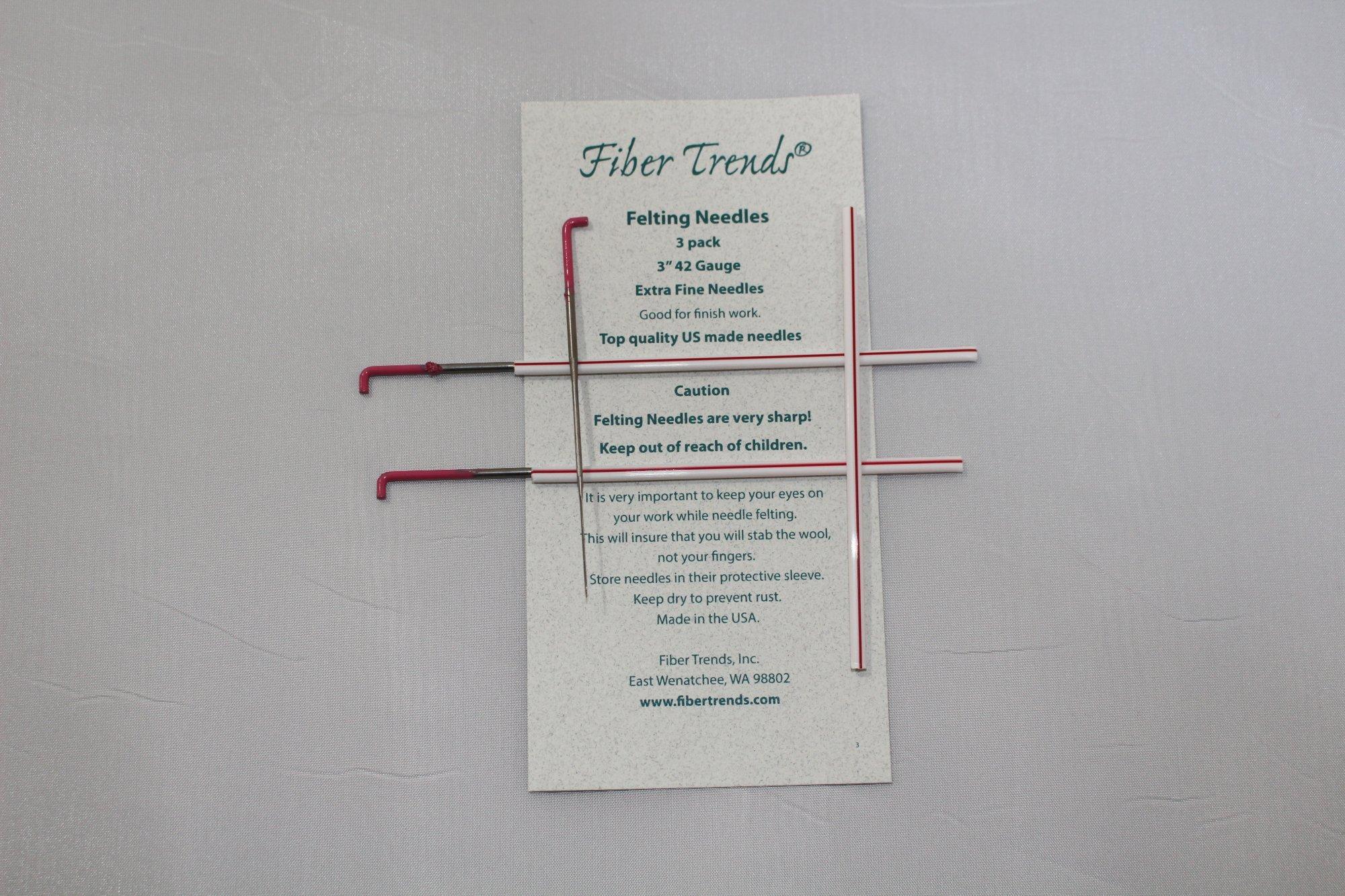 Fiber Trends Felting Needles Gauge 42 pack of 3