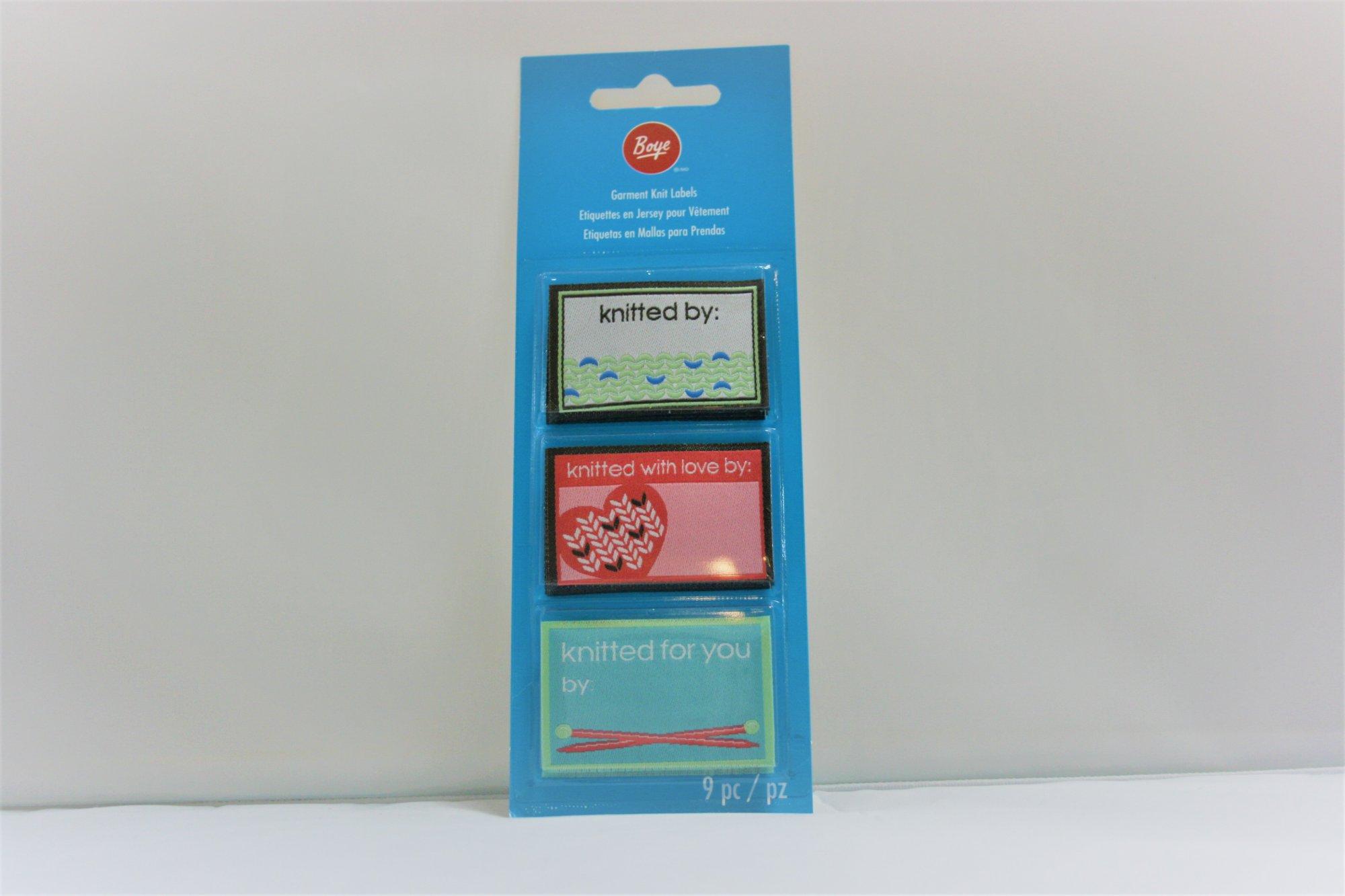 Boye Garmet Labels
