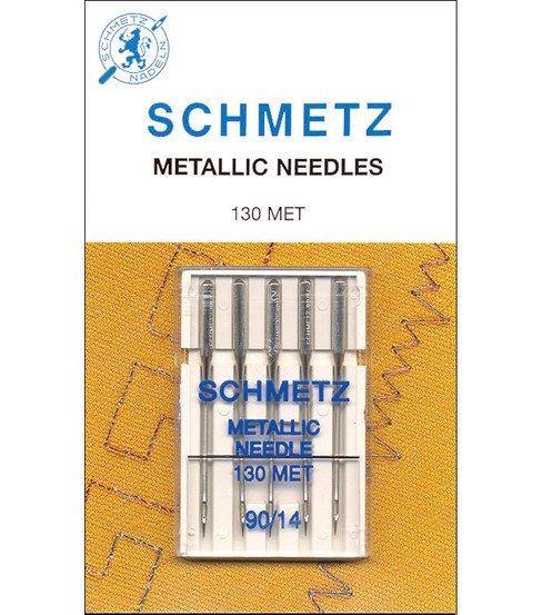 Schmetz 90/14 Chrome Metallic Needles