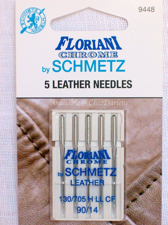 Schmetz 90/14 Chrome Leather Needles
