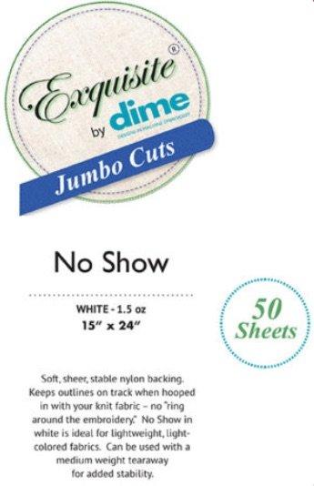 Exquisite Jumbo Cuts No Show Stabilizer 50pk
