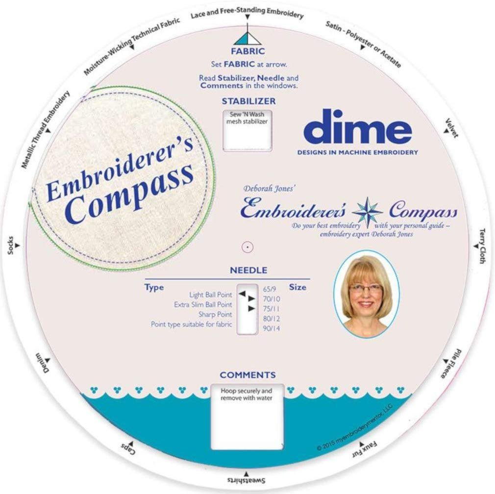 Embroiderer's Compass - Dime