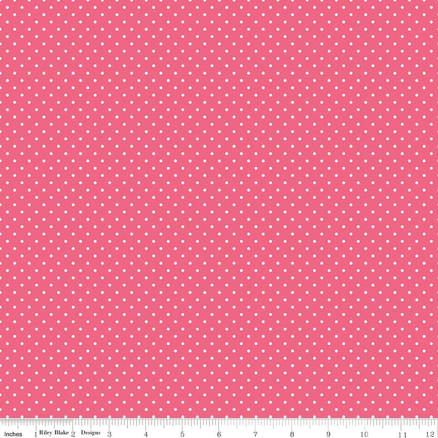 Swiss Dot Raspberry