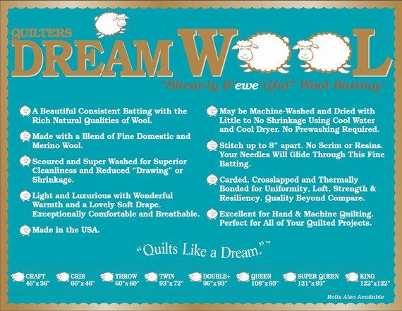 Dream Wool Crib Batting