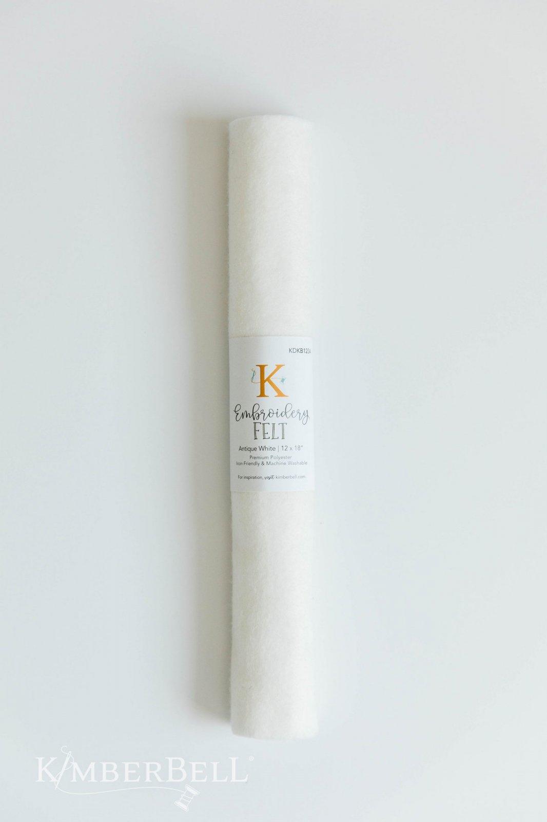 Kimberbell 12 x 18 Felt - Antique White
