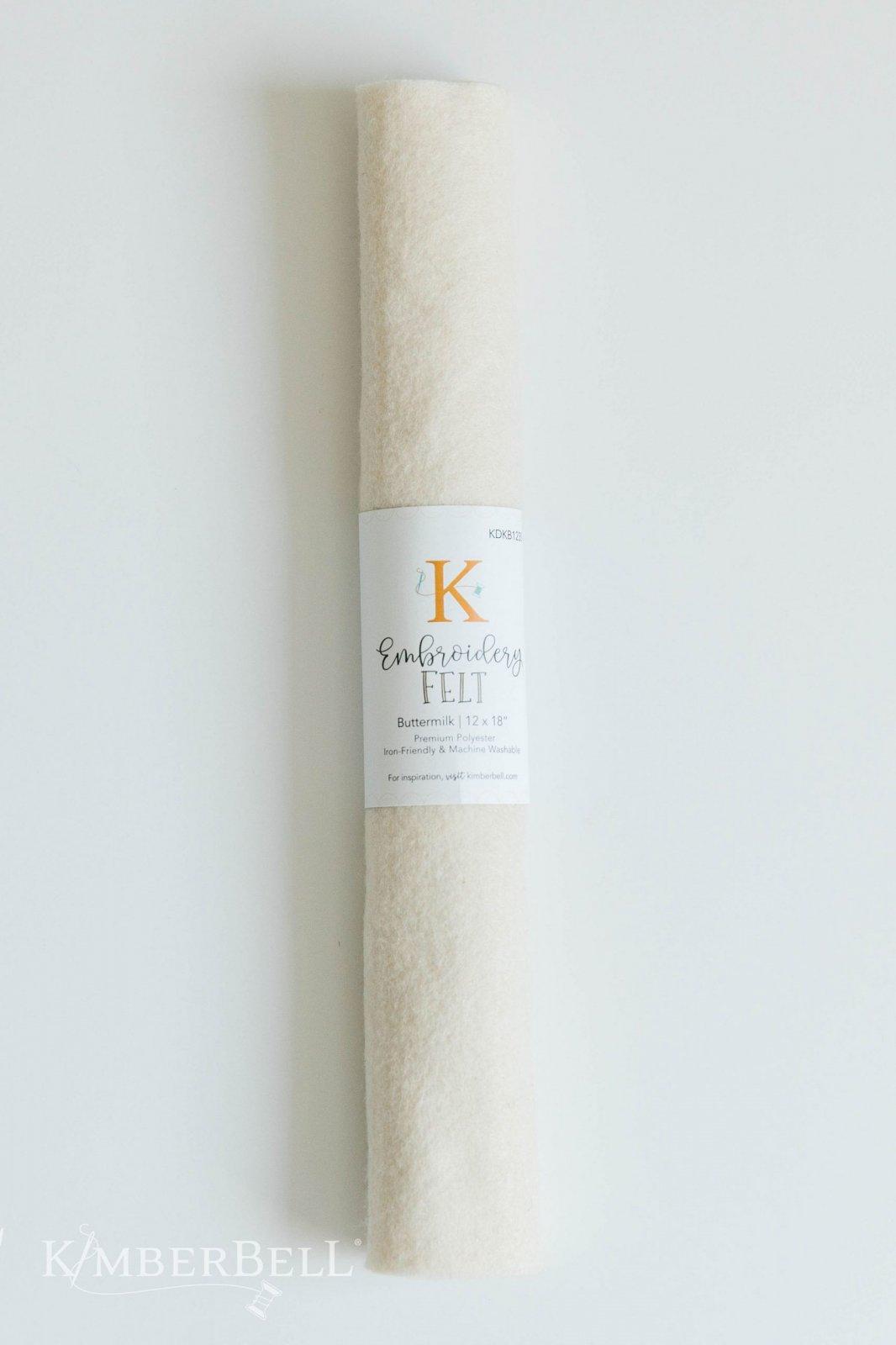 Kimberbell 12 x 18 Felt - Buttermilk