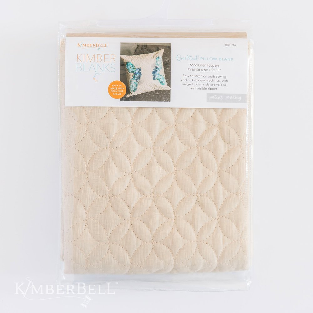 Kimberbell Quilted Pillow Cover Blank, Sand Linen 19 x 19