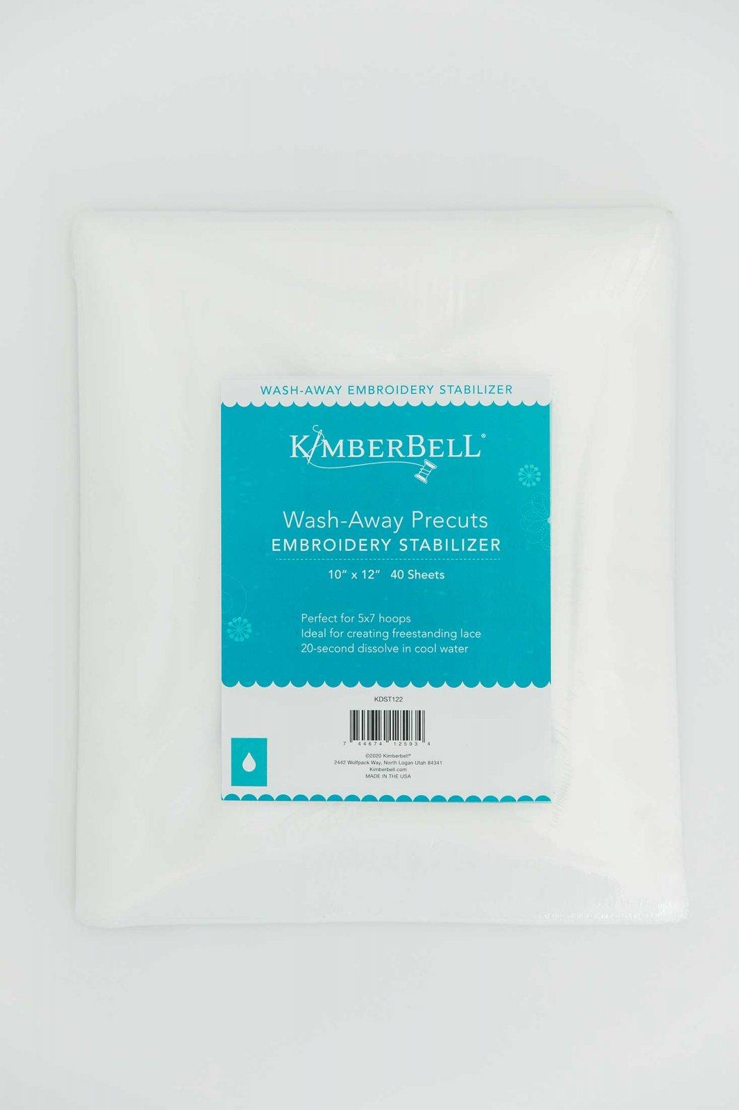 Kimberbell Stabilizer -  Wash-Away Precuts 10 x 12 40 Sheets