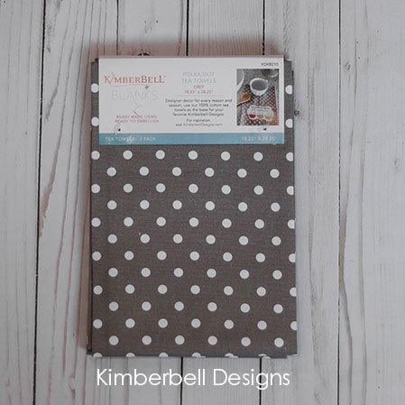 Kimberbell Dots & Stripes Tea Towels 2 pk - Warm Grey