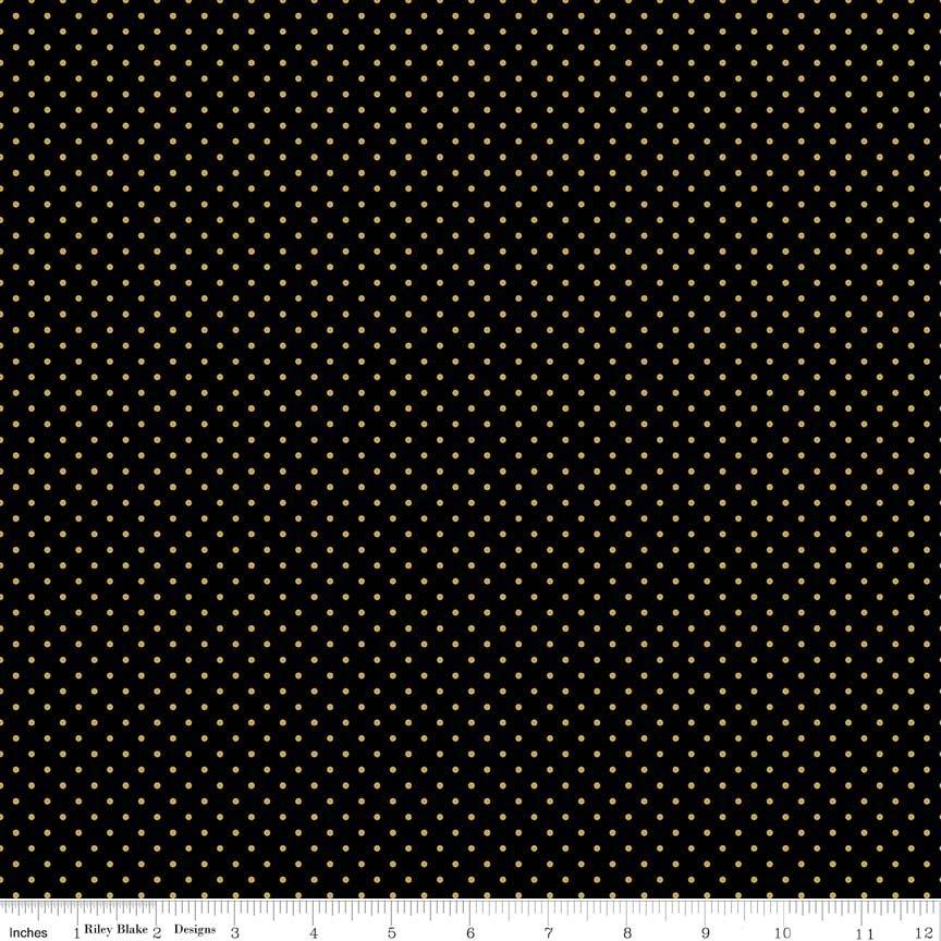 Swiss Dot Black Gold
