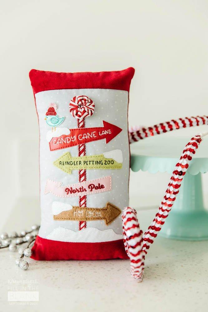 Kimberbell FITB Peppermint Pillow - September