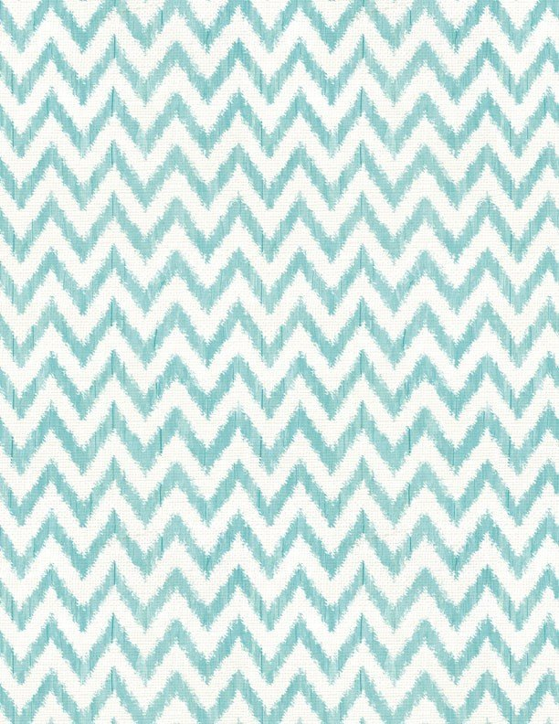 To the Moon and Back - White/Aqua Chevron