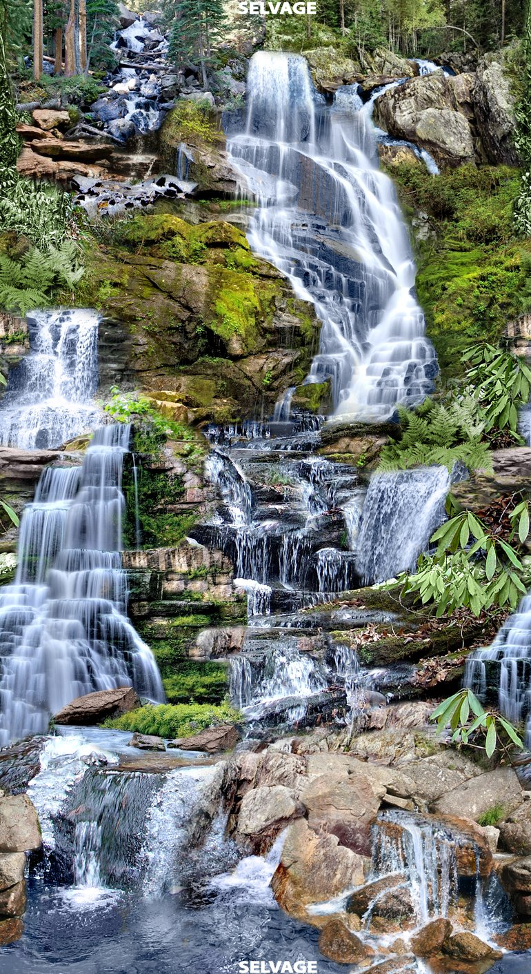 Landscape panel C6855 waterfall multi