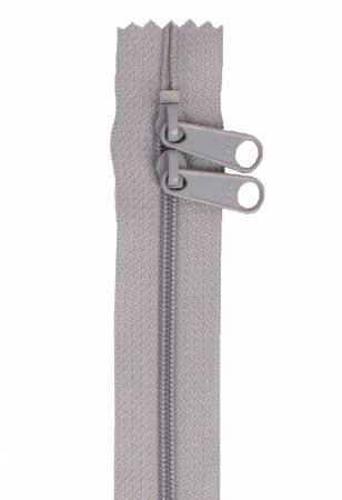 Handbag Zipper 40 Pewter - Double-Slide