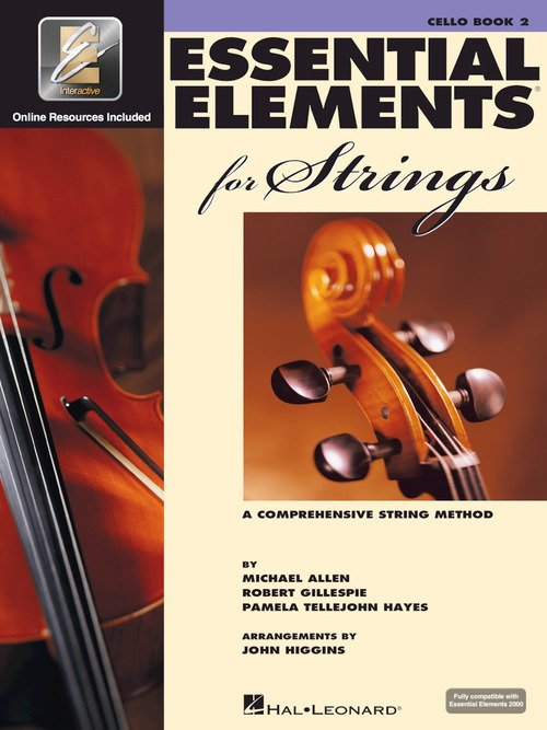 Essential Elements 2000 for Strings Cello Book Two A Comprehensive String Method- Includes Play Along CD