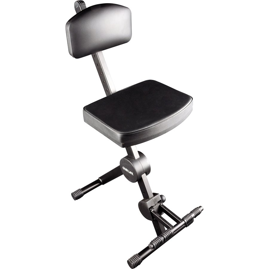 Quik Lok DX-749 Musician's Stool with Adjustable Back-Rest