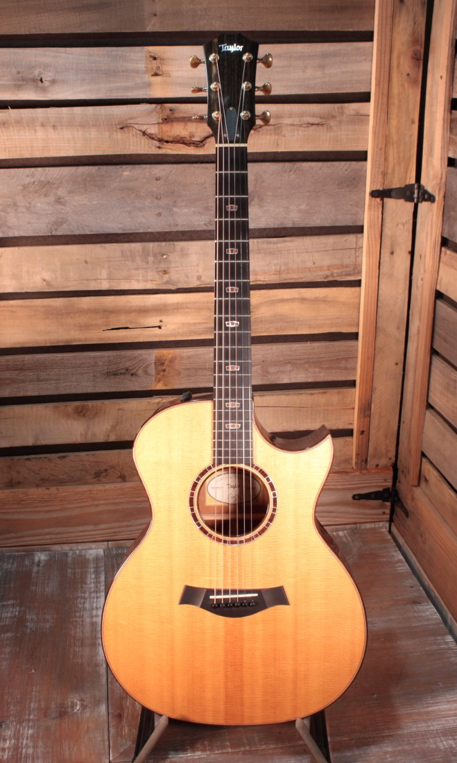 Used (2015) Taylor 514ce QS-LTD Quilted Sapele Limited Grand Auditorium Acoustic/Electric Guitar with Hardshell Case