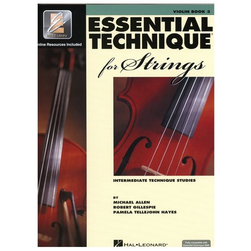 Essential Technique for Strings Violin Book Three Intermediate Technique Studies- Online Resurces Included