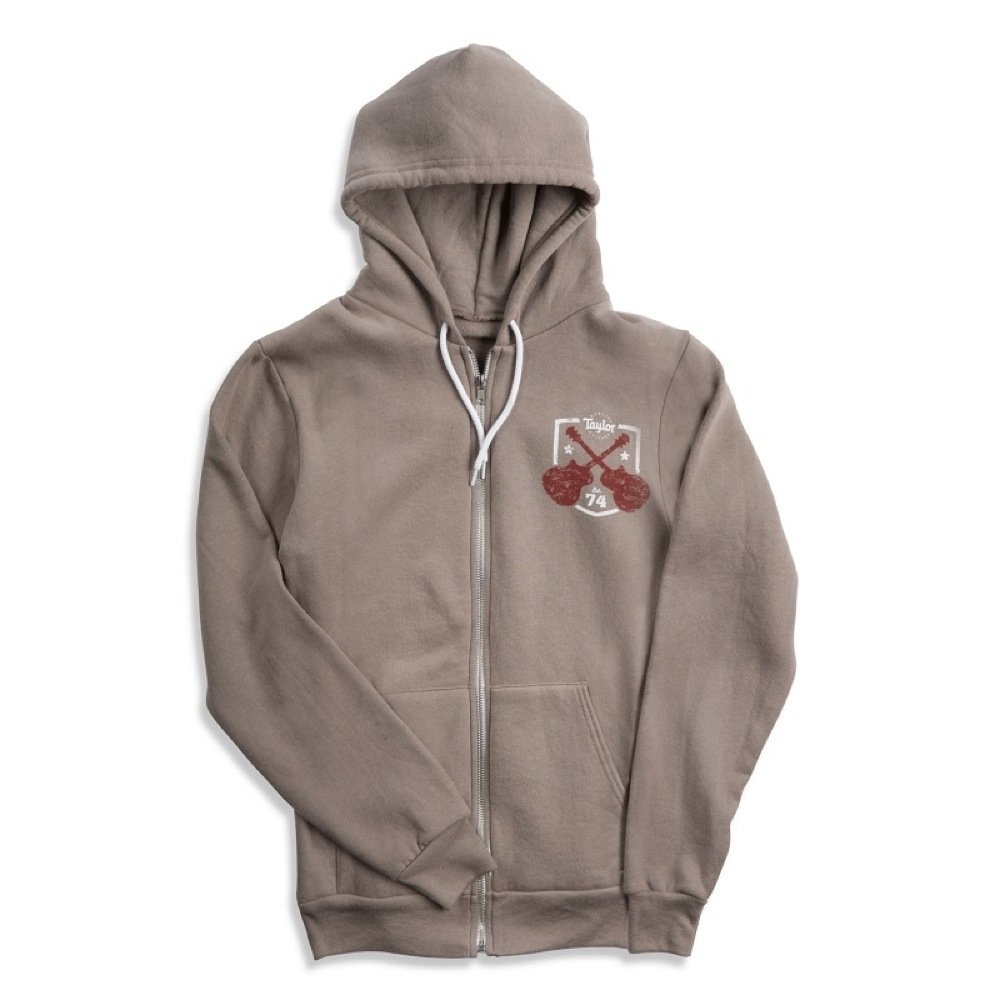 Taylor Pewter Gray Zip Front Hoody