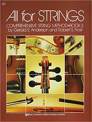 All For Strings Comprehensive String Method Viola Book Three