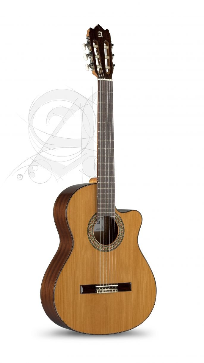 Alhambra 3C-CW Solid Red Cedar Top Acoustic/Electric Classical Guitar with Gigbag
