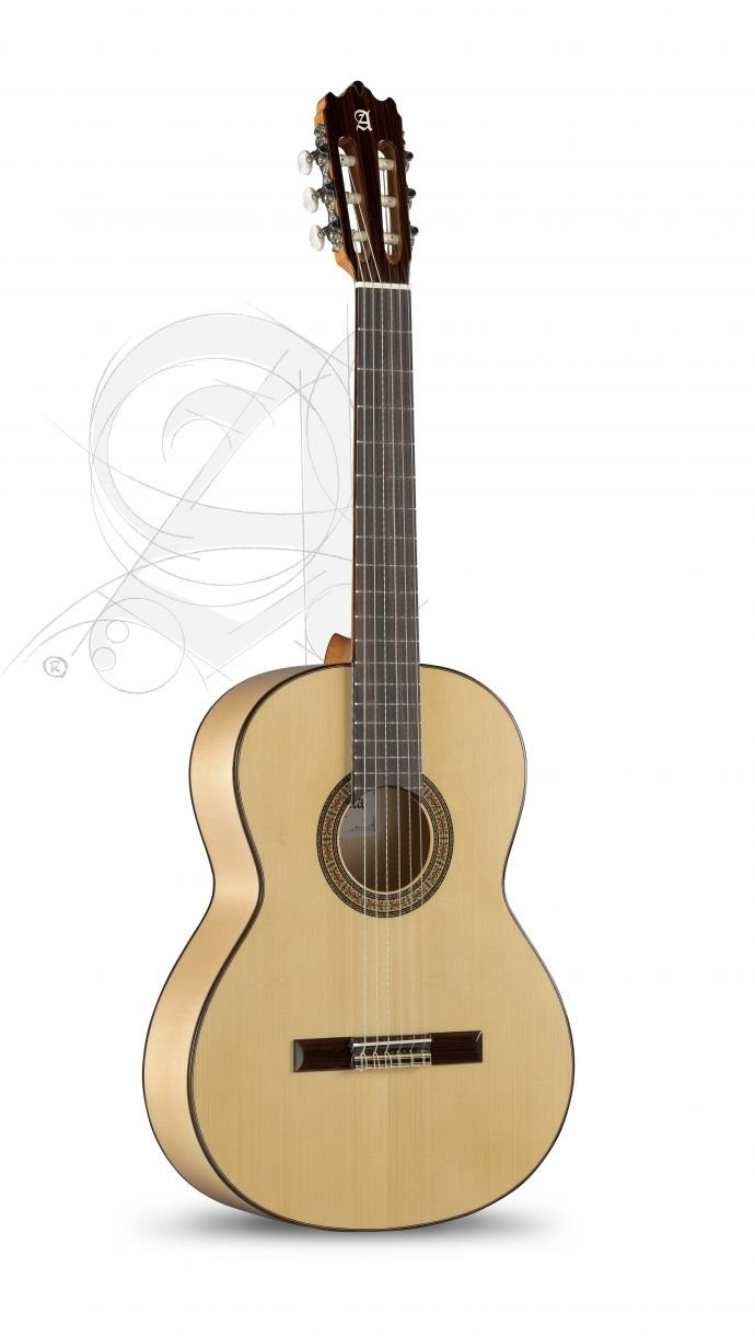 Alhambra 3F Solid German Spruce Top Flamenco Classical Guitar with Gigbag