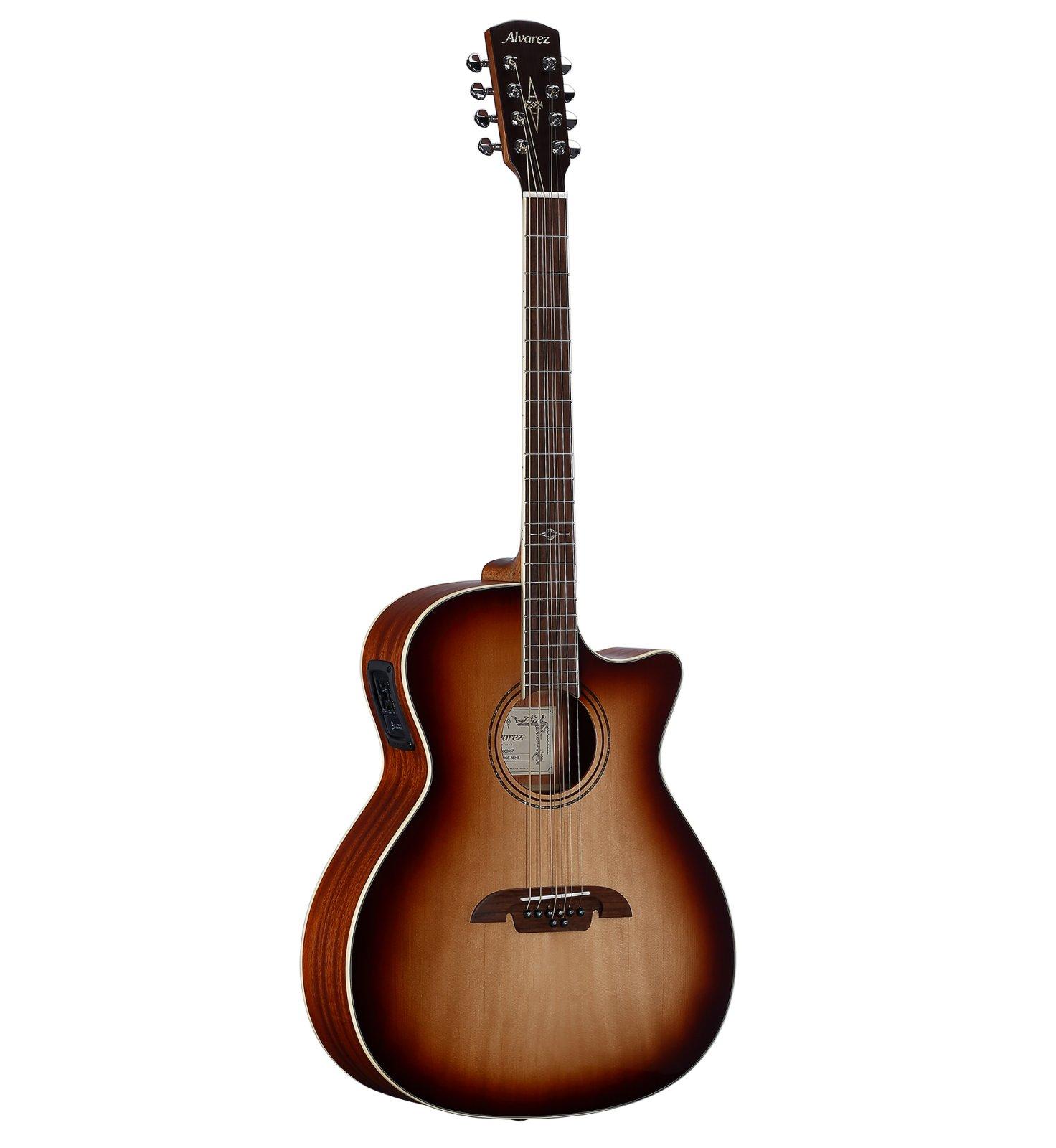 Alvarez AG60-8CESHB Artist Series Grand Auditorium 8-String Acoustic/Electric Guitar