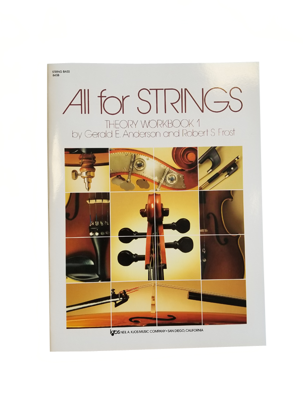 All For Strings Theory Workbook String Bass Book One