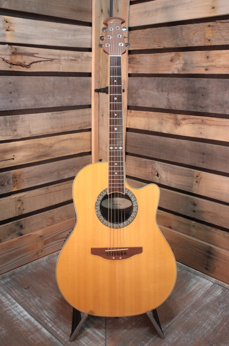 Used Ovation CC057 Shallow Body Acoustic Guitar with Case