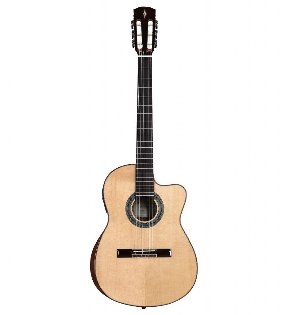 Alvarez CC7HCEAR Cadiz Concert Classical Hybrid Guitar with Beveled Armrest