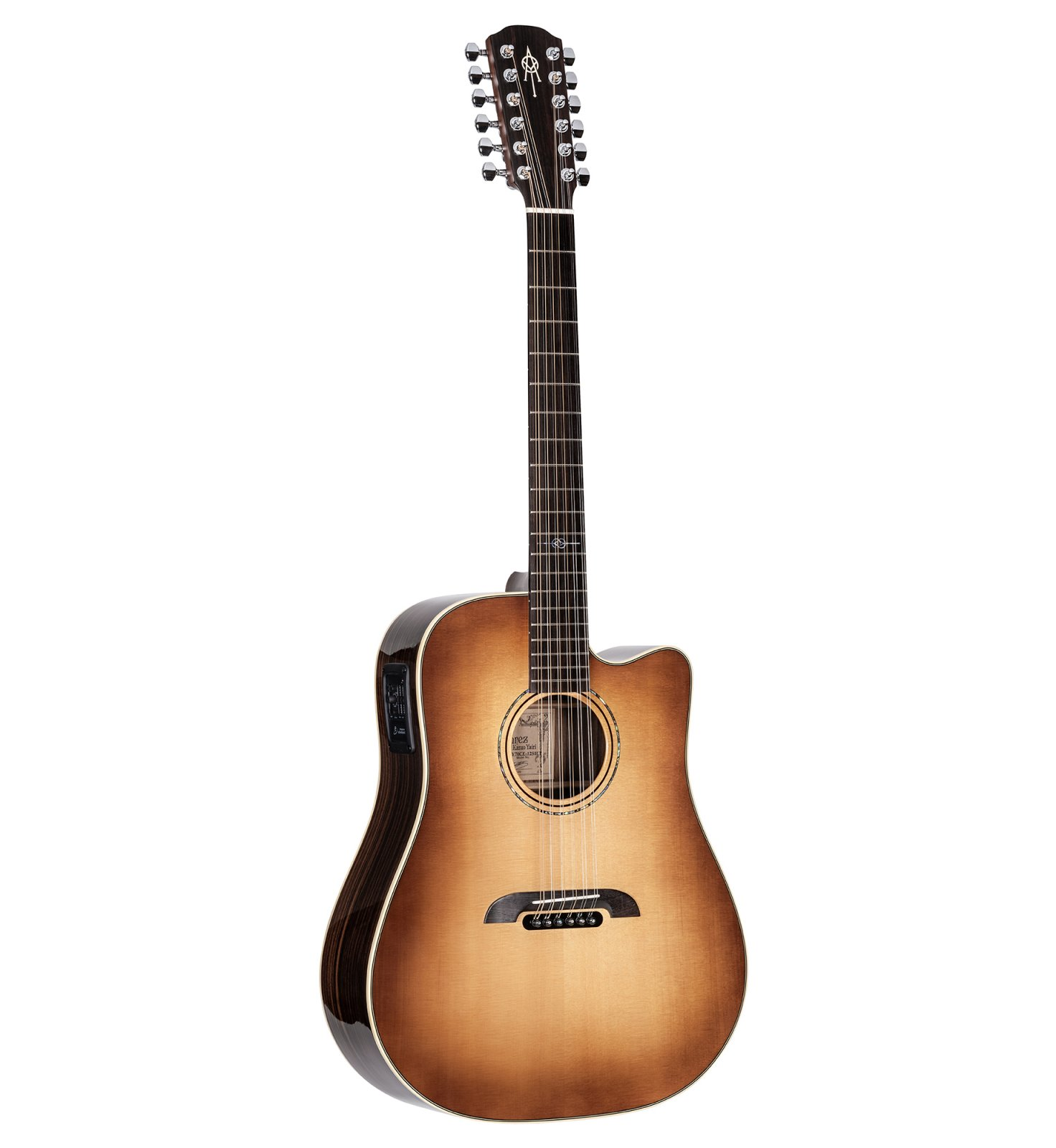 Alvarez-Yairi DY70CE-12SHB Standard 12-String Dreadnought Sitka/Rosewood Acoustic/Electric Guitar