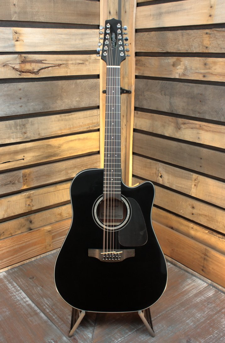 Takamine GD30CE12 Black Acoustic/Electric 12-String Guitar