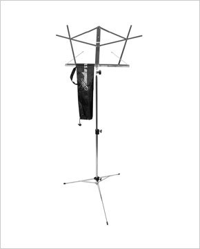 Hamilton KB900B Black Deluxe Folding Music Stand with Bag