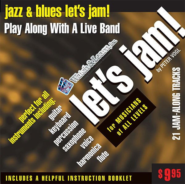 Let's Jam! Jazz & Blues Play Along CD