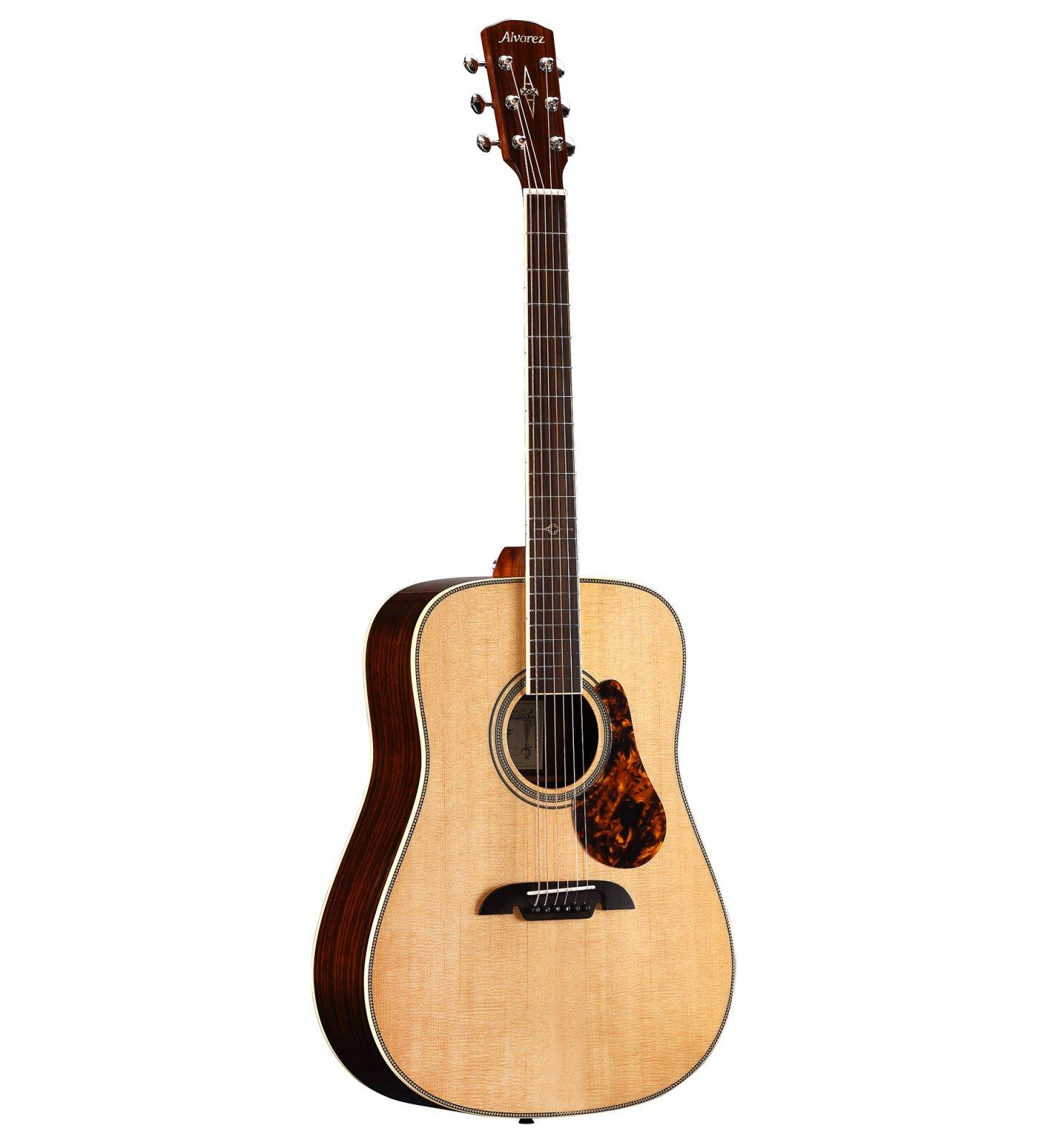Alvarez MD70EBG Masterworks Dreadnought Bluegrass Acoustic/Electric Guitar with Flexicase