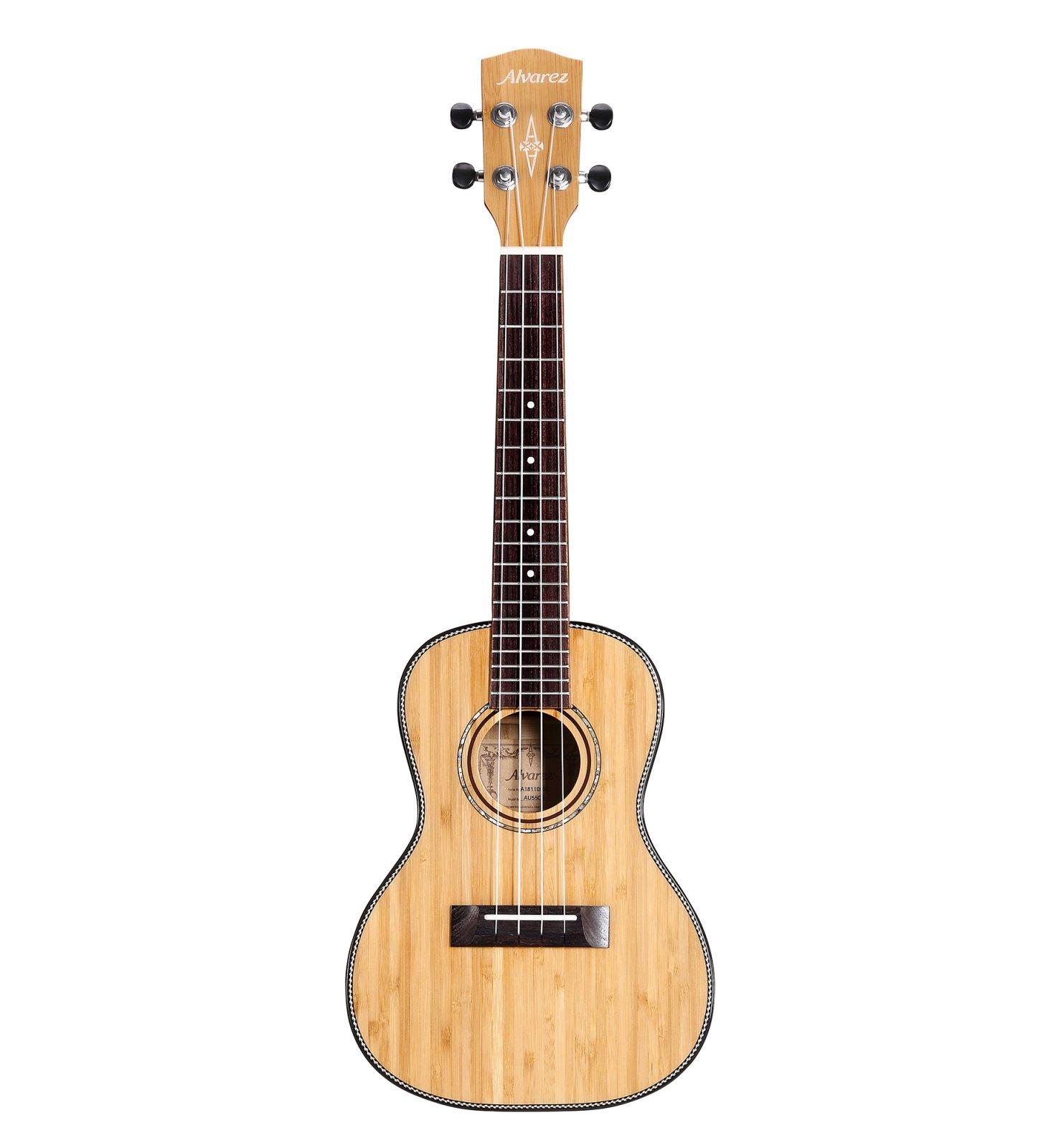 Alvarez MU55CE Masterworks All-Solid Acoustic/Electric Concert Ukulele
