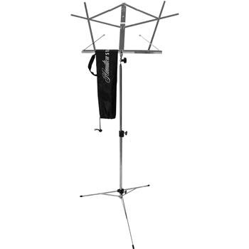 Hamilton KB900N Nickel Deluxe Portable Folding Music Stand with Bag